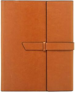 Gallaway Leather Padfolio Portfolio Folder Fits Letter Legal A4 Notebooks