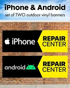 Iphone Android Cell Phone Repair Center Outdoor Banner Sign Poster