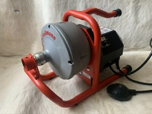 Ridgid Kollmann K 40 Sink Drain Cleaning Machine And New Snake Cable 25ft