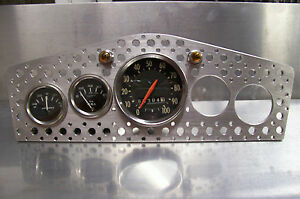 Speed Hole Bomber Aviator Dash Gauge Bezel Flat Aluminum Custom Hot Rod Panel