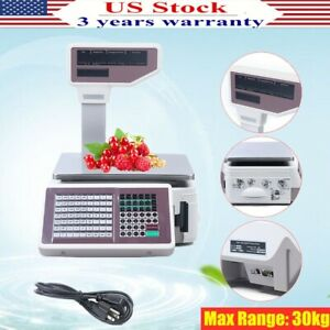 Digital Weight Price Scale Max Range 30kg Computing Food Meat Scale Produce Deli