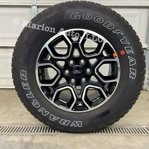 New 2021 Ford F150 Fx4 18 Factory Oem Black Machined Wheels Rims Goodyear Tires