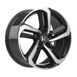 4 652 18 Inch Black Machined Rims Fits Honda Civic Si 2006 2015