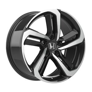 4 652 18 Inch Black Machined Rims Fits Honda Accord Coupe V6 2008 2020