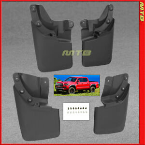 Splash Guards Front Rear For 16 19 Toyota Tacoma Mud Flaps Complete Set Combo