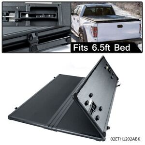 Hard Tonneau Cover Solid Tri Fold For Ford F150 Pickup Truck 6 5ft Bed 2004 08
