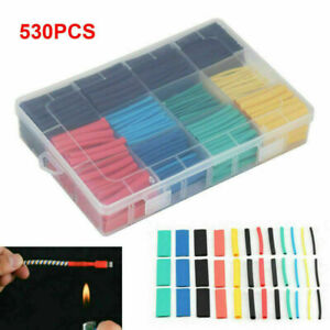 530pc Heat Shrink Tubing Tube Sleeve Kit Car Electrical Assorted Cable Wire Wrap