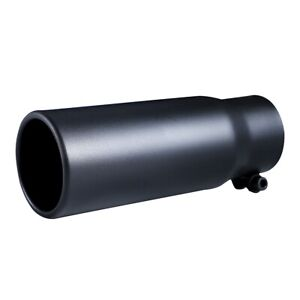 Car Exhaust Tip 2 5 Inlet Black Coated Stainless Steel Muffler Pipe Bolt On
