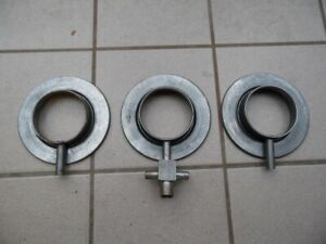 Pontiac 1964 1965 Tri Power Air Cleaner Bases California Style Set Of 3 New 21