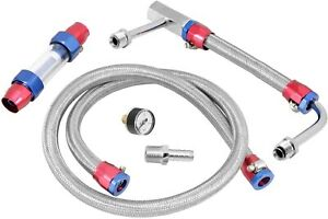 Spectre Performance 2955 Dual Feed Fuel Line Kit Stainless Holley 4150 4500
