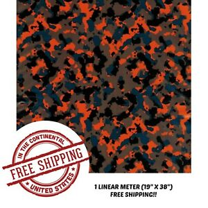 Hydrographic Film Water Transfer Hydro Dipping Dip Film Gator Camo 1m 19 X 38