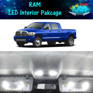 2006 2007 2008 Dodge Ram 1500 2500 3500 White Interior Led Lights Kit Package