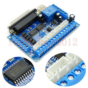 1pc 5 Axis Cnc Breakout Board Interface Controls For Stepper Motor Driver Mach3