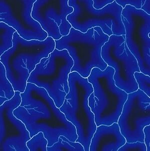 Water Transfer Hydrographic Film Hydro Dip Hydro dipping Blue Lightening 1sq