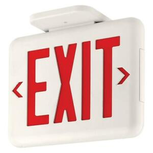 Exit Sign Thermoplastic Led Red Letters Dual lite Hubbell Lighting