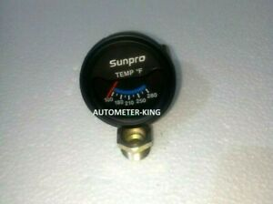 Sunpro 2 Inch Electrical Water Oil Temperature Gauge Kit New 100 280 F