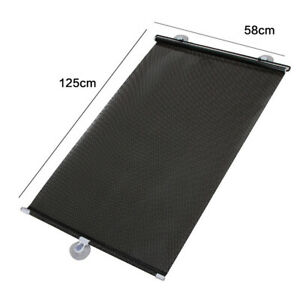 Retractable Car Auto Window Sun Shade Visor Windshield Roller Blind Universal