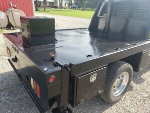 Flatbed Autocrane Ready Outriggers Flat Bed Service Bed 60 Ca Propane Bed