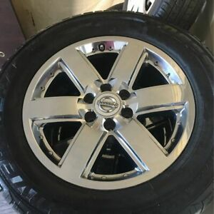 Nissan Titan 2009 15 Factory Alloy Rims With Tires Set Of 4 Oem