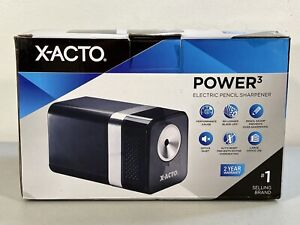 Xacto Power3 Electric Pencil Sharpener Black Open Box