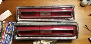 1967 Pontiac Tempest Lemans Guide 23 Sae Stdbr 67 Tail Lights Set Oem