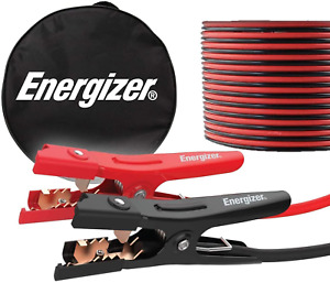 Energizer Jumper Cables For Car Battery Heavy Duty Jump Starter Booster 20 Feet