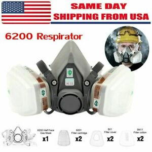 11 In1 2 2 Extra Covers filters Gas Mask Spray Paint 6200 Respirator Safety