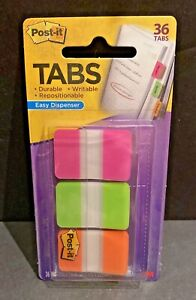 New 3m Post It Tabs 1 X 1 5 66 Tabs Easy Dispenser