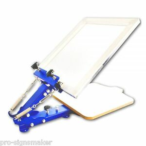 1 Color Screen Printing Manual Screen Printing Equipment For One Color T shirt