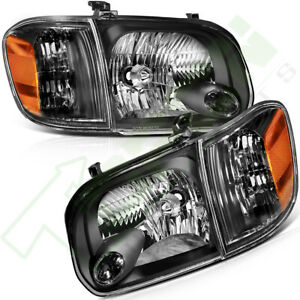 One Pair For 2005 2006 Toyota Tundra 2007 Sequoia Headlamps Headlights Assembly