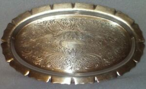 Silver Platter Serving Tray Dish Art S Co Spc 79 Antique Vintage 9 5 X 5 5 Inch