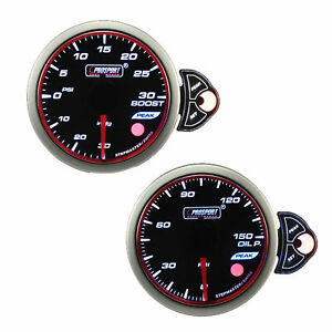 Prosport Electrical Universal Halo 52mm Boost Oil Pressure Gauge 30 30 Psi