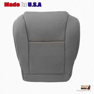 For 2005 2006 2007 2008 Toyota Tacoma Driver Bottom Gray Cloth Seat Cover Manual