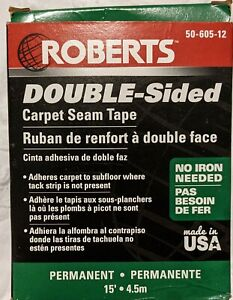 Roberts Double sided Carpet Tape 2 5 In X 15 Ft Roll Adhesive New 50 605 12