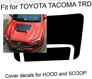 For Toyota Tacoma 2016 2021 Trd Pro Hood Scoop Decal Graphics Bestseller