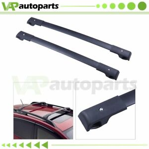 Fit For 2018 Subaru Crosstrek Aero style Black Top Roof Rack Cross Bar Kit 2pcs