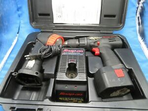 Snap On Cdr33450 Cordless Drill Flashlight W Charger Case Preowned Fast Ship