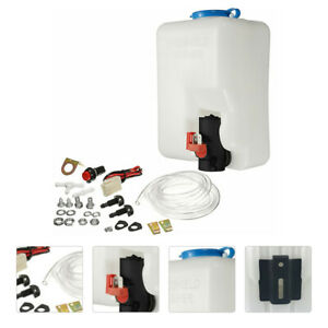 12v 1 5l Car Auto Universal Washer Tank Pump Bottle Kit Windshield Wiper Systems
