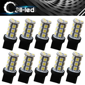 10pc White 18smd Back Up Reverse 7440 7441 5050 T20 Turn Signal Led Light Bulbs
