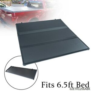 6 5 Ft Bed Lock Hard Tri Fold Tonneau Truck Bed Cover For 2009 2014 Ford F150