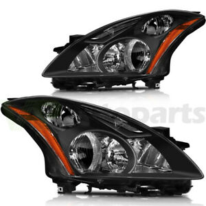 For 2010 2012 Nissan Altima Headlight Assembly Left right New Replacement Black