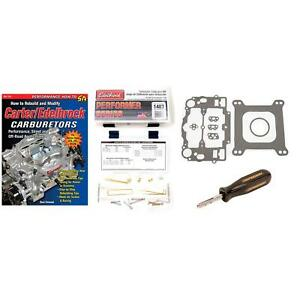 Edelbrock 1406 600 Cfm Carburetor Analog Super tuning Kit