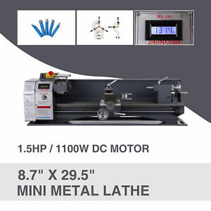 Mini Metal Lathe 8 7 29 5 1 5hp 1100w Metal Gear Variable Speed Metalworking