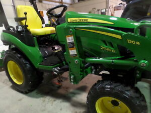 John Deere 2025r 4wd Dsl Hydro Loader And Scraper Blade 2019 W 17 Hrs