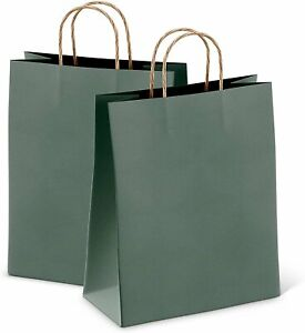 Kraft Teal Paper Shopping Bags 8x4 75x10 5 Retail Paper Bags 25 Pack