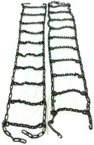 Skid Steer Uni loader Snow Tire Chains Squared Link Alloy Hardened 10 16 5