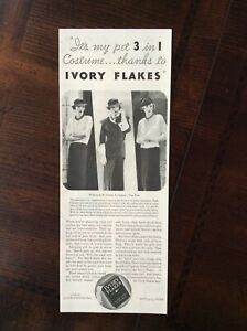 1933 Vintage Original Ad Ivory Flakes Laundry Detergent
