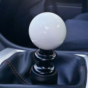 Ssco Gloss White Sr 55mm 610 Grams Weighted Shift Knob Shifter Sphere