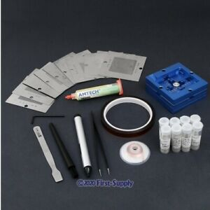 Bga Reflow Tools Kit 80x80mm Reball Station Universal Stencil Flux Solders