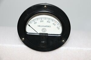 Vintage Simpson Electric Dc Meter Gauge 0 500 Milliamperes